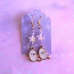 Ghost star charm earrings 👻⭐✨